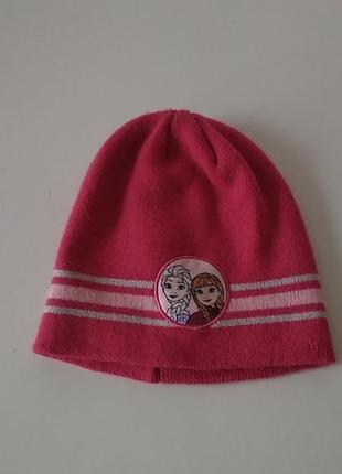"""Демисезонная шапка """"холодное сердце"""" с эльзой"""