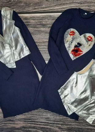 Набор двойка платье с жилеточкой