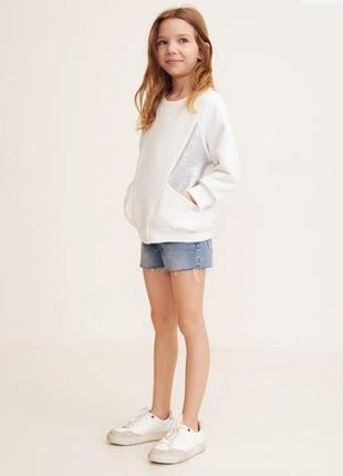 Свитшот на девочку с карманами mango