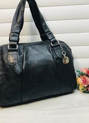 Кожаная сумка из натуральной кожи американского бренда calvin klein