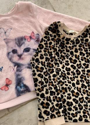 Плюшевый свитер h&m, 4-6 лет.