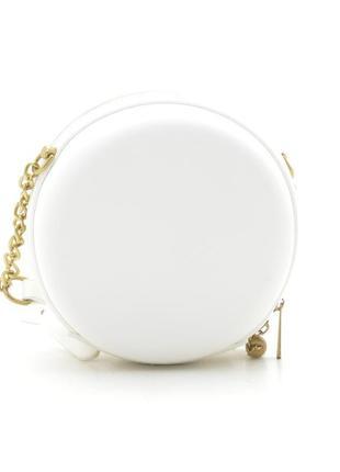 Круглая сумка через плечо / клатч david jones cm5658t белый6 фото
