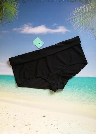 Черные плавки с подворотом