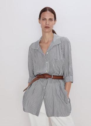 Новая рубашка в полоску в стиле оверсайз zara