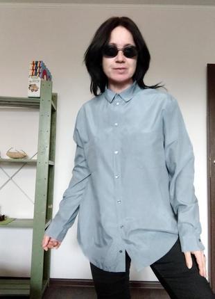 Натуральная базовая серая рубашка marc o polo