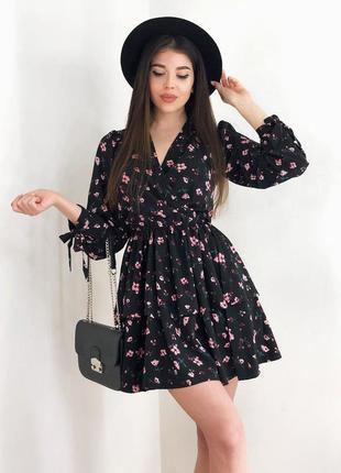 Последнее! весеннее платье в цветочный принт