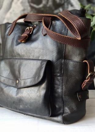 Fat face. большая сумка из натуральной кожи.