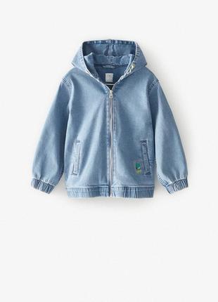 Новая джинсовая куртка zara 11-12 лет