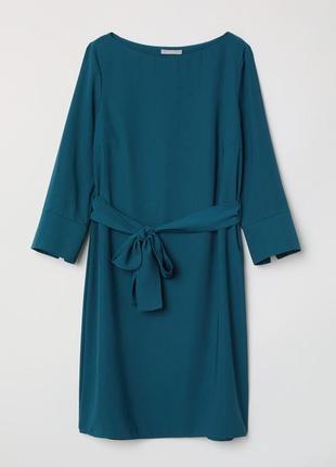 Платье трапеция с поясом