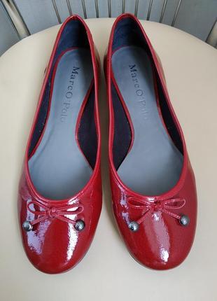 42 p. marko pollo красивые туфли балетки лаковая кожа