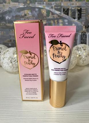 Too faced primed & peachy cooling matte perfecting primer праймер для лица