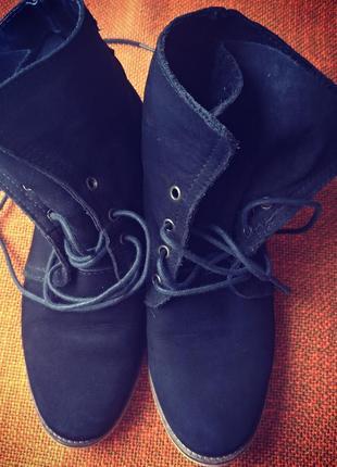 Ботинки нубук кожа