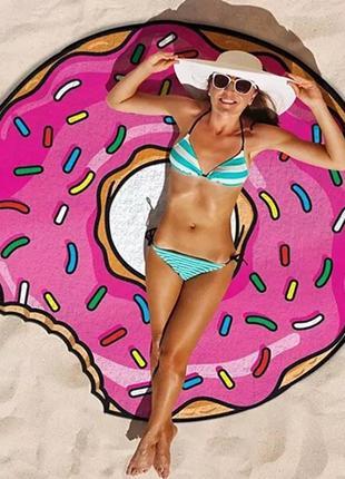 Покривало на пляж, подстилка на пляж, круглый пляжный коврик