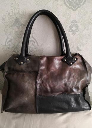 Шикарная кожаная сумка mjusот vera pelle, италия👜👜👜🦋💥