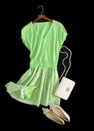 Очень стильное яркое летнее платье1