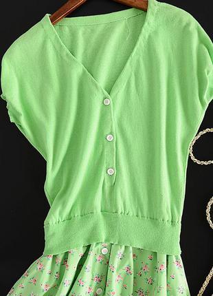 Очень стильное яркое летнее платье2