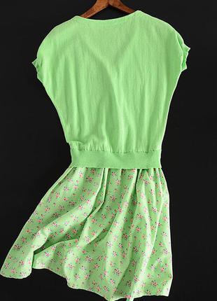 Очень стильное яркое летнее платье3