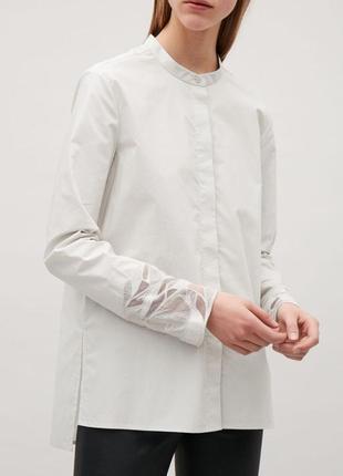 Блуза с декором хлопок l/xl