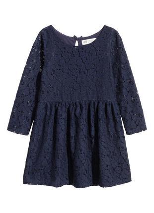 Платье h&m 4-6лет 110-116