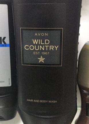 Шампунь-гель для душу avon wild country 250 мл