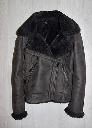 Куртка косуха дубленка 7-8 лет