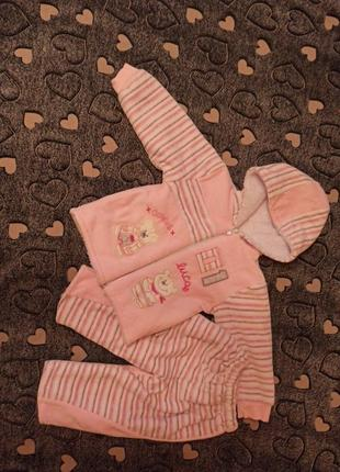 Костюм розовый 9-12 месяцев