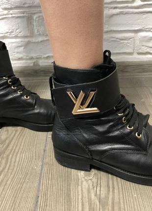 Ботинки чёрные louis vuitton люкс натуральная кожа