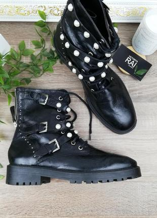 🌿40🌿европа🇪🇺 zara. кожа. стильные ботинки