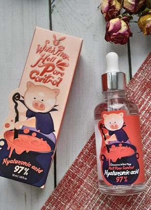 Сыворотка с гиалуроновой кислотой elizavecca witch piggy hell pore control 97% 50 мл