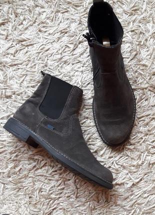 Замшевые ботинки,челси,26см