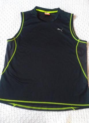 Спортивна майка puma для спорту футболка майка спортивная черная
