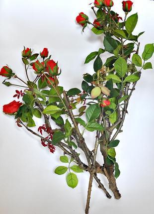 Искусственная роза куст 38см