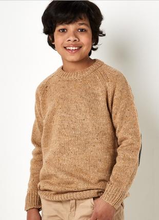 Стильный вязаный свитер горчичного цвета  riot club англия на мальчика 10-11 лет