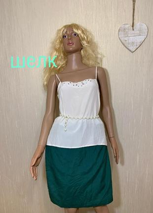 Шелковая юбка шелк 100% шелк натуральный