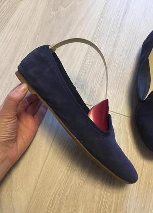 Замшевые туфли мокасины clark's