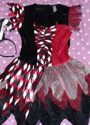 Карнавальное платье харли квинн подружка джокера 13-14 лет.