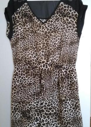 Платье с леопардовым принтом reserved