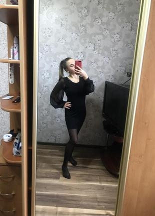 Чорное платье, плаття, сукня чорна мініатюрна