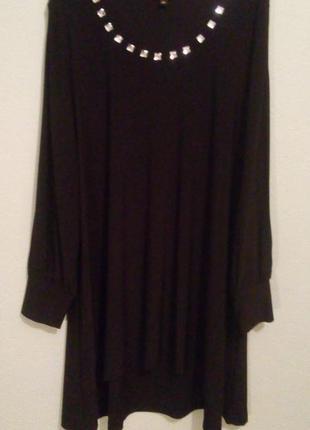 Шикарна та стильна сукня-туніка великого 58 розміру