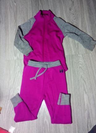 Спортивный костюм из шерсти мериноса на девочку 86-92см