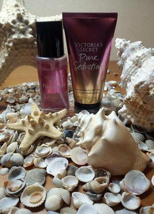 Victoria's secret мист и лосьон для тела pure seduktion