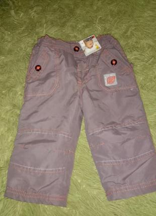 Теплые штанишки ergee демисезонные брюки на флисе