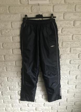Штани непромокаючі тонкі спортивні umbro дощовик, спортивные штаны непромокаемые дождевик
