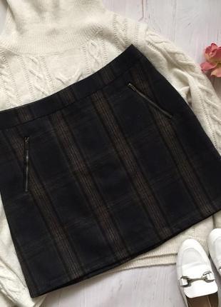Теплая мини юбка george