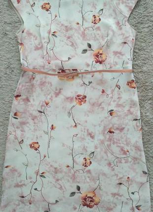 Платье летнее ,натуральный крепдешин, р.40, hand made