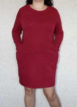 Хлопковое итальянское платье с карманами