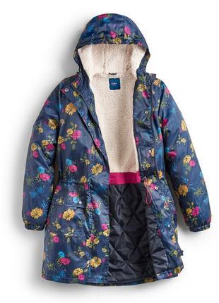 Водонепроницаемая парка /куртка/дождевик на подкладке из флиса большого размера.