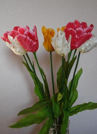 Искусственные цветы тюльпаны