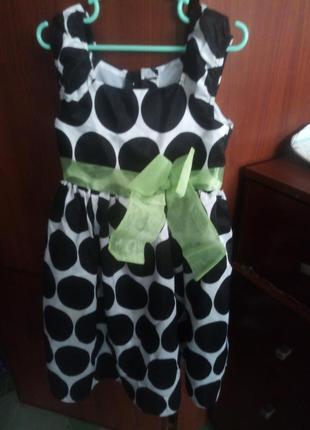Платье в горошек,нарядное, пышное платьице для малышки 3-4-5 лет, обмен