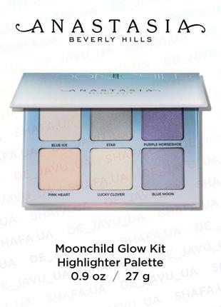 Палетка хайлайтеров anastasia beverly hills moonchild glow kit